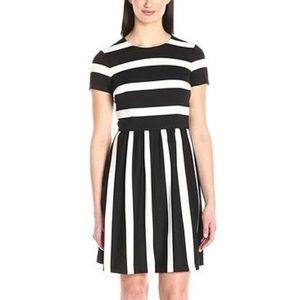 Eliza J Cap Sleeve Stripe Dress